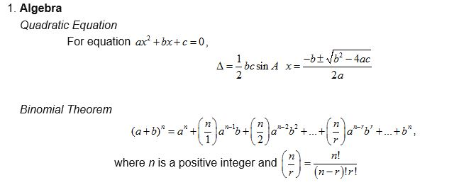 2015-09-09 19_12_56-These are the formulae that will be given to help you to answer the IGCSE 0606 A