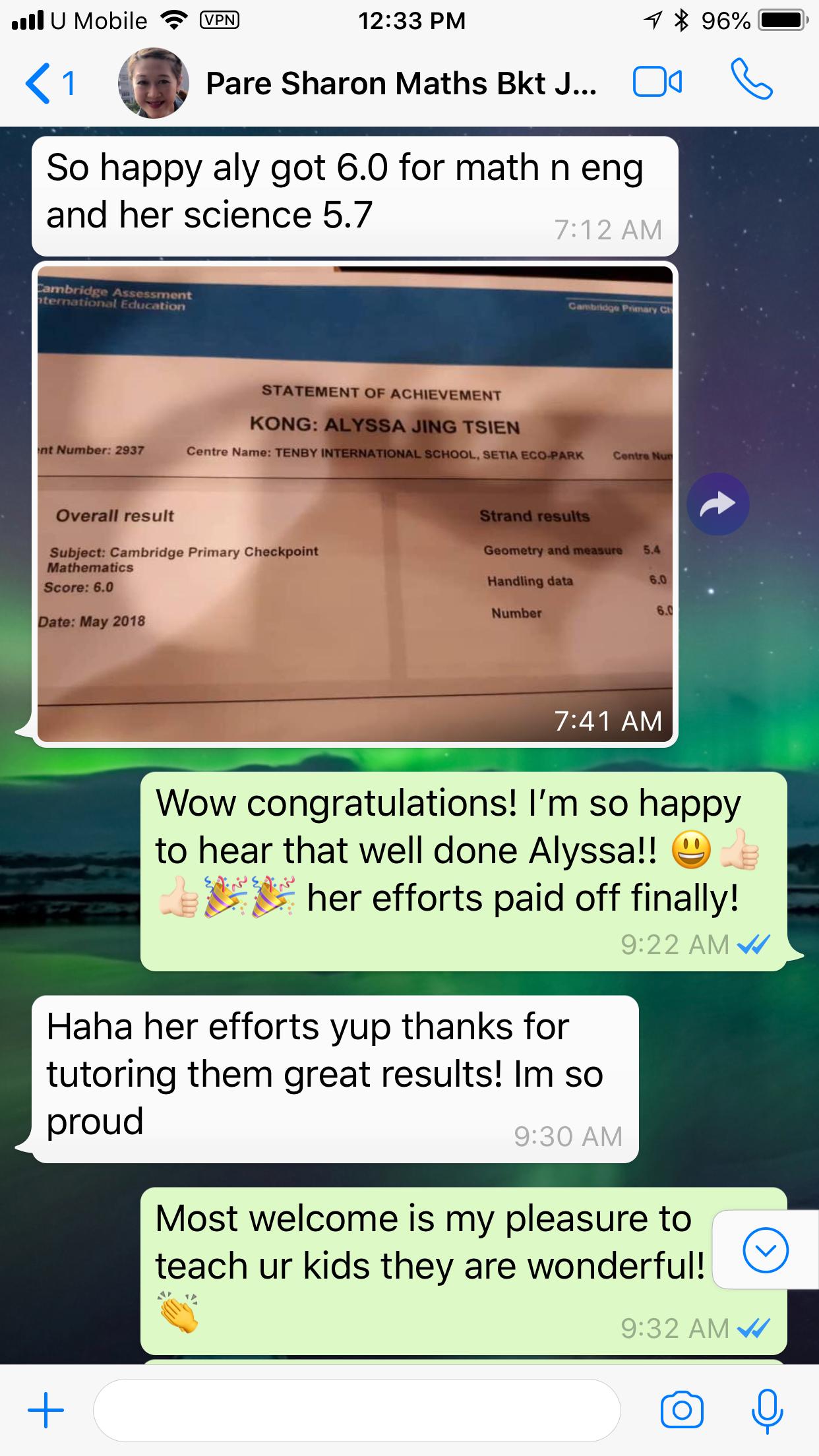 Year 6 Checkpoint Maths - Parent Sharon