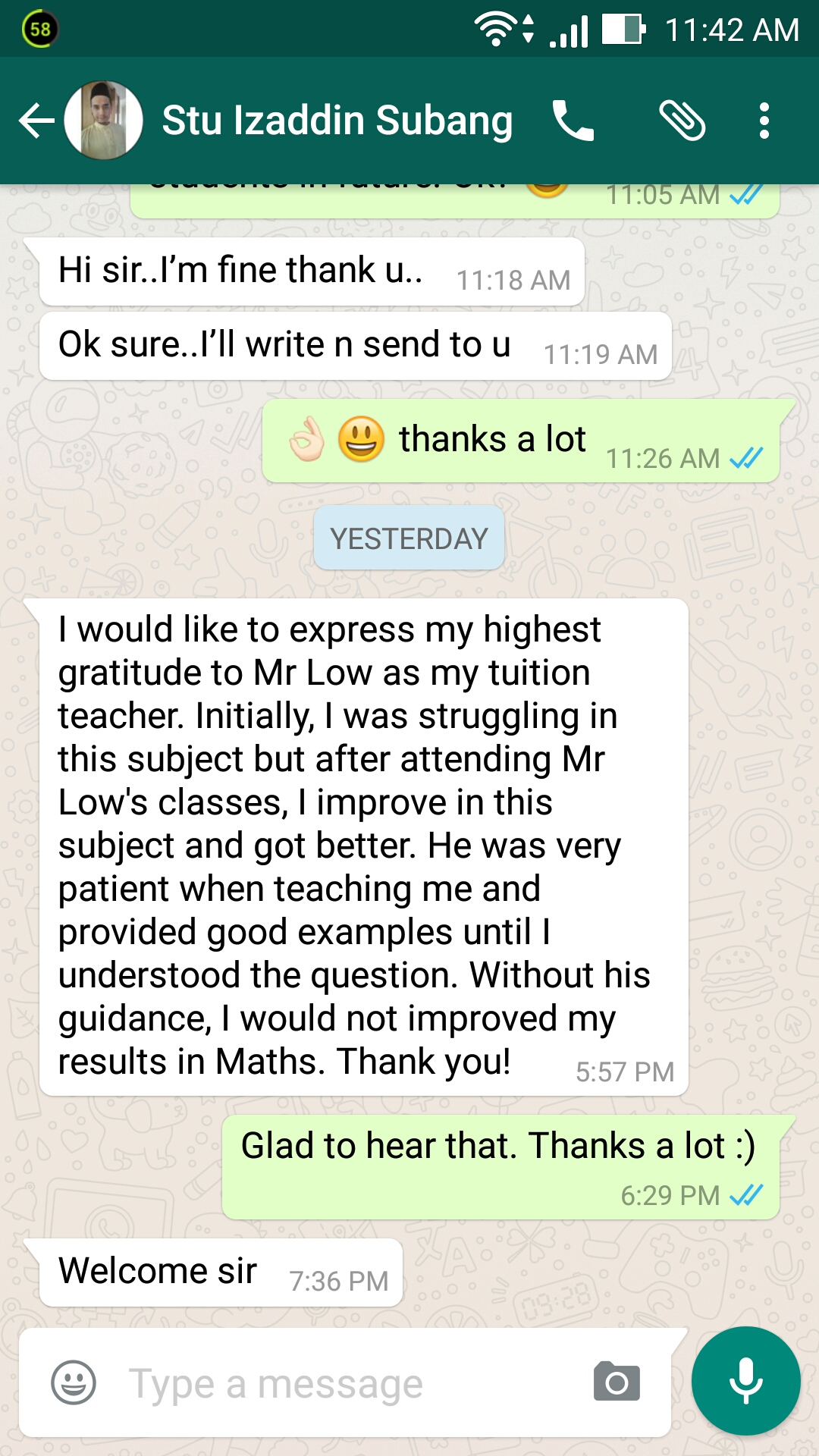 Business Maths (Diploma in Business) - Student Izaddin
